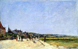 Deauville, the Terrace, 1882 by Eugene Boudin | Painting Reproduction
