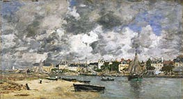View of Trouville, 1873 by Eugene Boudin | Painting Reproduction