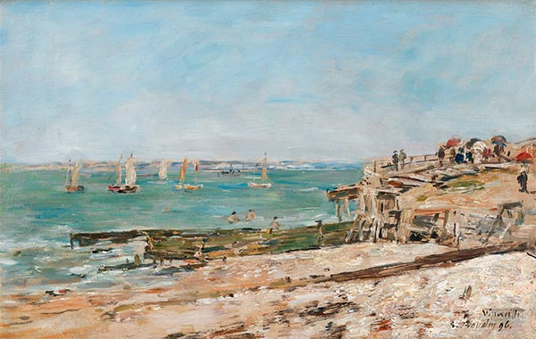 Eugene Boudin | Villerville, the Shore, 1896
