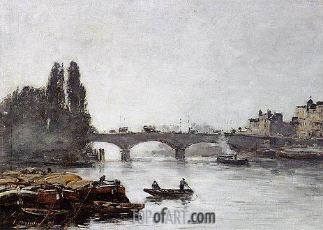 Eugene Boudin | Rouen, the Pont Corneille, Fog Effect, 1896