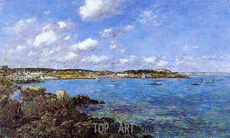The Bay of Douarnenez, 1897 | Eugene Boudin | Gemälde Reproduktion