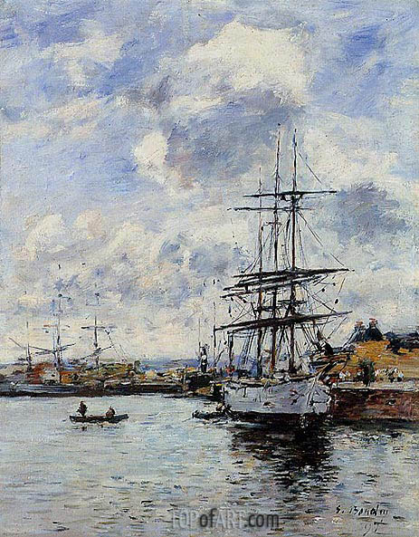 Deauville, the Basin, 1897 | Eugene Boudin | Painting Reproduction