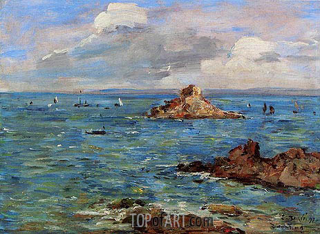 The Sea at Douarnenez, 1897 | Eugene Boudin | Painting Reproduction