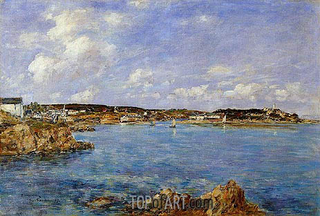 Eugene Boudin | Douarnenez, the Bay, View of l'Ile Tristan, 1897