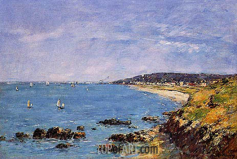 Eugene Boudin | Trouville, View from the Heights, 1897