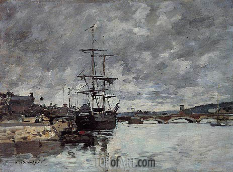 The Bridge over the Toques at Trouville, undated | Eugene Boudin | Painting Reproduction