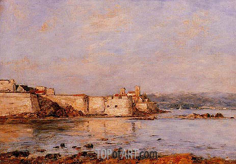 Eugene Boudin | The Harbor of Antibes, undated