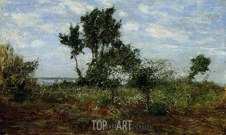 Landscape, near Honfleur, undated | Eugene Boudin | Painting Reproduction
