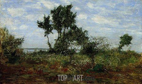 Eugene Boudin | Landscape, near Honfleur, undated