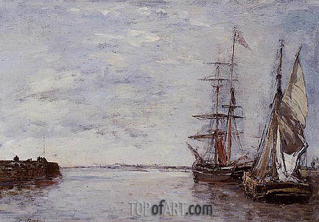 The Port at Deauville, undated | Eugene Boudin | Gemälde Reproduktion