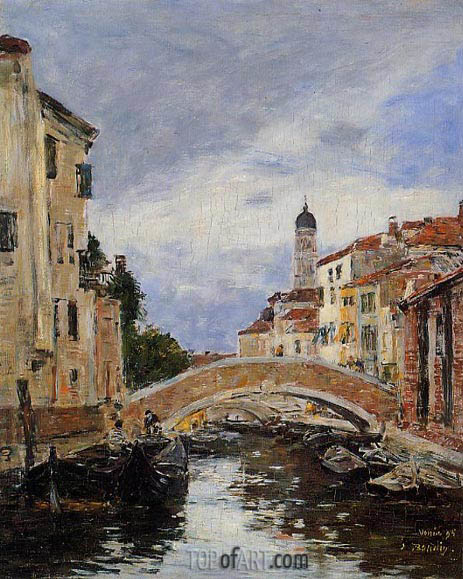 Eugene Boudin | Small Canal in Venice, 1895