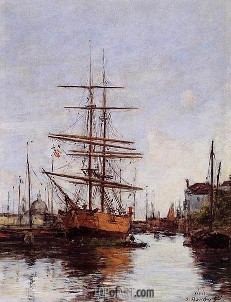 Venice, Quai de la Guidecca, 1895 | Eugene Boudin | Painting Reproduction