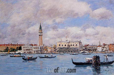 Eugene Boudin | Venice - The Campanile, the Ducal Palace, 1895