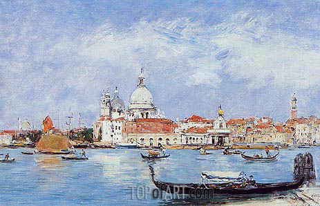 Venice, Vue from the Grand Canal, 1895 | Eugene Boudin | Painting Reproduction