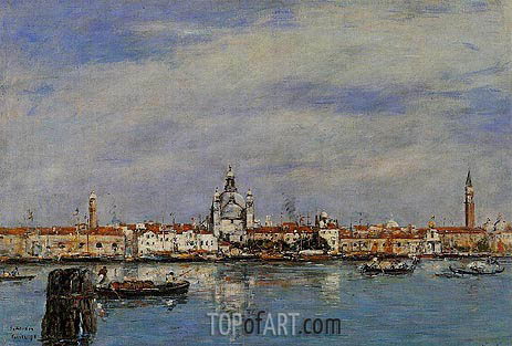 Venice, the Grand Canal, 1895 | Eugene Boudin | Gemälde Reproduktion