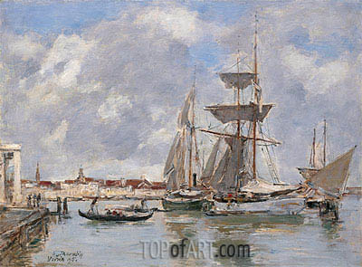 Venice, The Grand Canal, 1895 | Eugene Boudin| Painting Reproduction