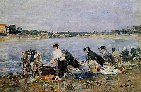 Laundresses, 1895 | Eugene Boudin | Painting Reproduction