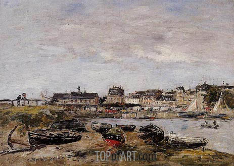 Trouville, View from Deauville, a Day in March, 1895 | Eugene Boudin | Painting Reproduction