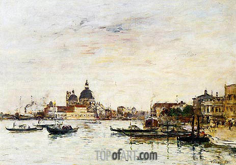 Eugene Boudin | Venice, the Mole at the Entrance, 1895