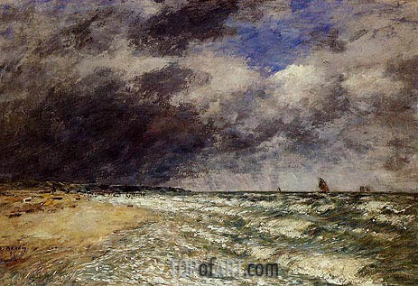 A Squall from Northwest, 1895 | Eugene Boudin | Gemälde Reproduktion