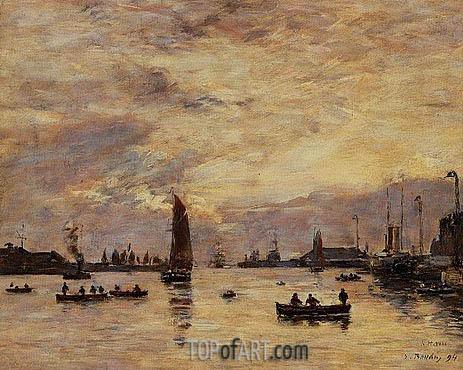 Eugene Boudin | Le Havre, l'avant-port, 1894