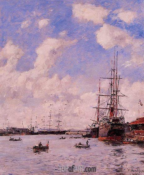 Eugene Boudin | Le Haver, Le Bassin de l'eure, 1894
