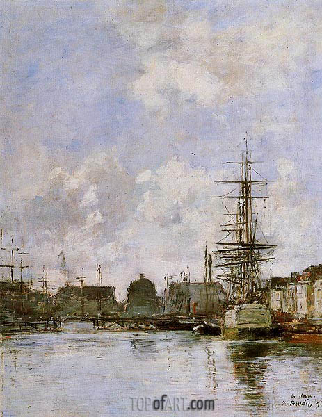 Le Havre, Commerce Basin, 1894 | Eugene Boudin | Painting Reproduction