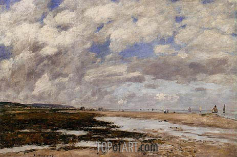 The Beach, Deauville, 1893 | Eugene Boudin | Gemälde Reproduktion