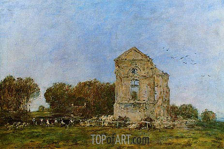 Deauville, Ruins of the Chateau de Lassay, 1893 | Eugene Boudin | Painting Reproduction