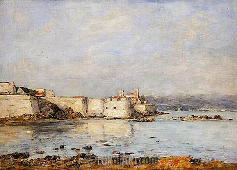 Eugene Boudin | Antibes, the Fortifications, 1893
