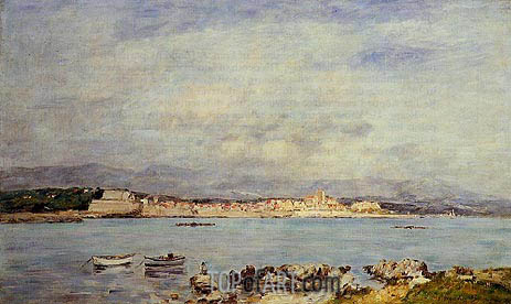 Antibes, Vue pris de la salis, 1893 | Eugene Boudin | Painting Reproduction