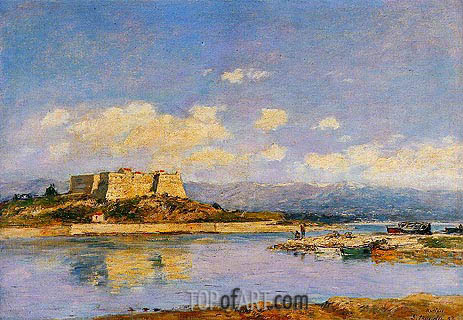 Antibes, Fort Carre, 1893 | Eugene Boudin | Painting Reproduction