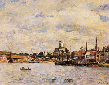 Eugene Boudin | Fecamp, The Port, 1892