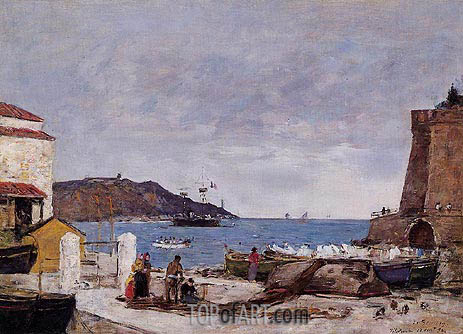 Eugene Boudin | The Baye of Villefranche, the Port, 1892