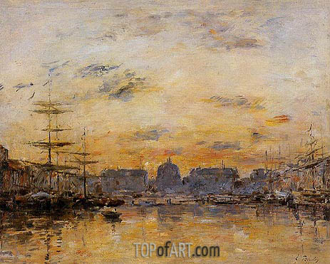 Eugene Boudin | The Commerce Basin, Le Havre, 1892