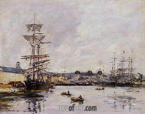Eugene Boudin | Le Havre, the Casimir Delavigne Basin, 1892