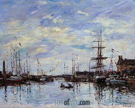 Eugene Boudin | Deauville, The Basin, 1892