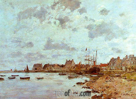 The Port at Saint-Vaast-la-Hougue, 1892 | Eugene Boudin | Painting Reproduction