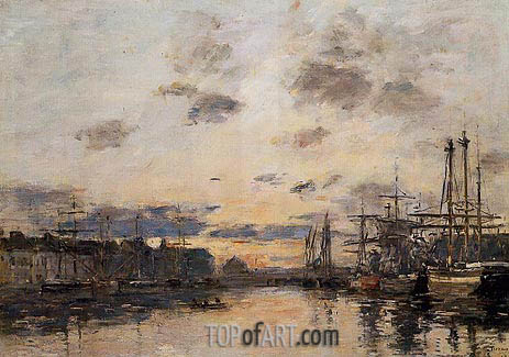 Eugene Boudin | Fecamp, the Basin, c.1892/94