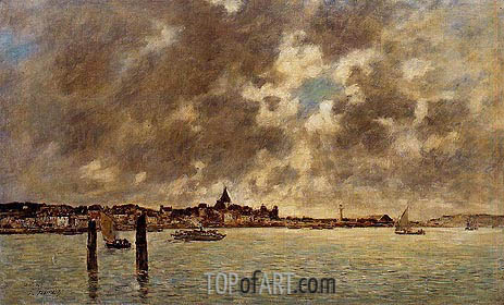 Eugene Boudin | The Seine at Quillebeuf, c.1892/94