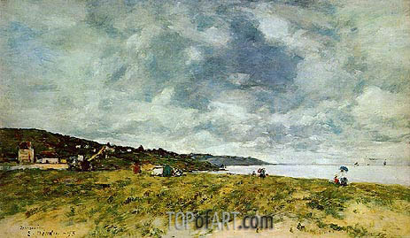 The Shore at Tourgeville, 1893 | Eugene Boudin | Painting Reproduction