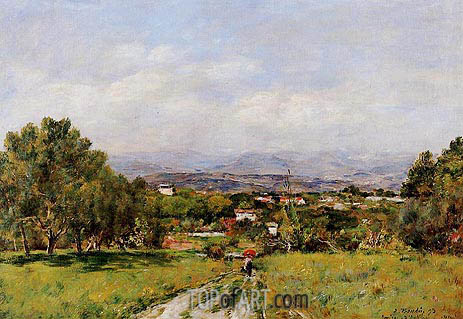 Near Antibes, 1893 | Eugene Boudin | Painting Reproduction