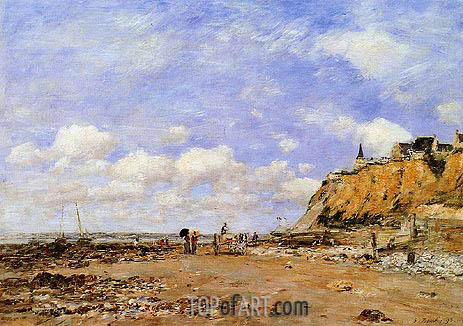 The Shore at Villerville, 1893 | Eugene Boudin | Gemälde Reproduktion