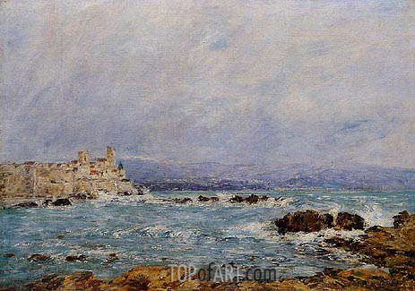 Antibes, the Rocks of the Islet, 1893 | Eugene Boudin | Painting Reproduction