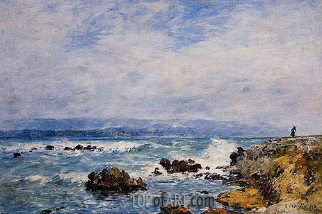 Antibes, the Point of the Islet, 1893 | Eugene Boudin | Painting Reproduction