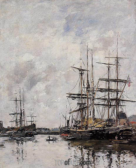 The Deauville Basin, 1891 | Eugene Boudin | Painting Reproduction