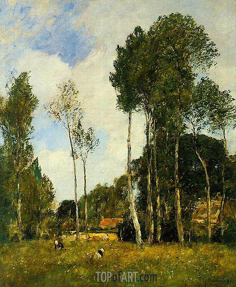 Oiseme Landscape, near Chartres, 1891 | Eugene Boudin | Painting Reproduction