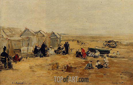 Eugene Boudin | Deauville: Beach Scene, 1890