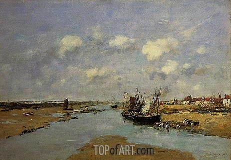 Eugene Boudin | Etaples, La Canache, Maree Basse, 1890