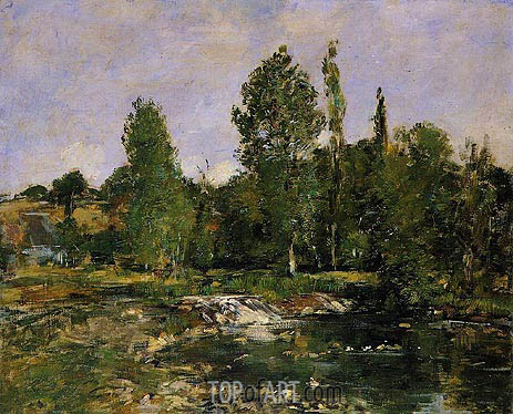Eugene Boudin | Saint-Cenery, a Pond, c.1890/92